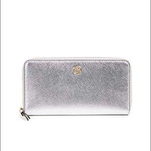 Silver Tory Burch Wallet